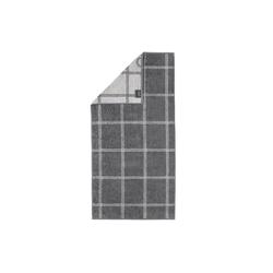 Cawö Duschtuch Grafik Two-Tone in schiefer, 80 x 150 cm