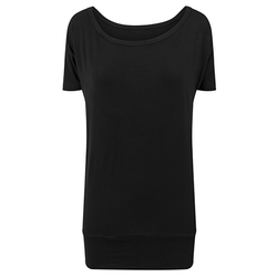 Damen Viskose T-Shirt   Build Your Brand black XS