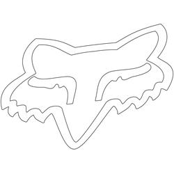FOX Head TDC 18 Sticker, wit, 45 cm