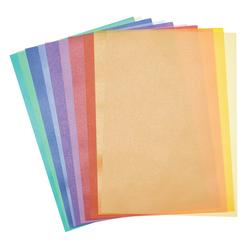 Folia Transparentpapier Transparentpapier, 10 Blatt bunt