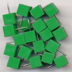 Alco Markiernadeln quadrat. Kopf: 8.5 mm, Nadel: 11.5 mm, h-grün, 20 St.,1761-17