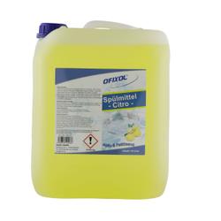 Ofixol Spülmittel Citro, Handspülmittel für Haushalt und Gastronomie, 10 l - Kanister