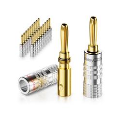 deleyCON deleyCON 20x Bananenstecker Schraubbar für Lautsprecherkabel von 0,75mm - 4mm PC-Lautsprecher