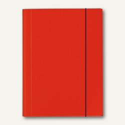 Sammelmappe VELOCOLOR®, A4, Karton, 15 mm Füllhöhe, 350g/qm, rot, 6St., 4442321