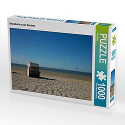 Strandkorb an der Nordsee Lege-Größe 64 x 48 cm Foto-Puzzle Bild von Kattobello Puzzle