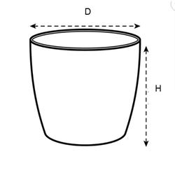Elho Übertopf brussels rund mini Übertopf Ø 7 cm - Ø 13 cm grau Ø 11 cm