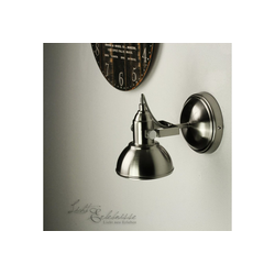 Licht-Erlebnisse Deckenstrahler GINA Wandlampe Retro Deckenstrahler Nickel schwenkbar E14 Lampe