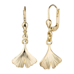 JOBO Paar Ohrhänger Ginko, 375 Gold