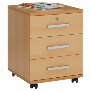 CARO-Möbel Rollcontainer VANCOUVER, Rollcontainer Bürocontainer Schubladenschrank Büroschrank abschließbar