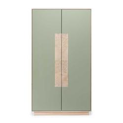 Esszimmer Highboard in Beton Grau und Buche weiß geölt 90 cm breit