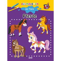 Ausmalbuch Pferde: Buch von