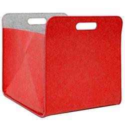 Filz Aufbewahrungsbox 33x33x38 cm Kallax Filzkorb Filzbox Regal Einsatz Box Rot