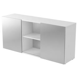 KAPA 1780 | Sideboard | mit Schwebetüren - Weiß/Silber Sideboard