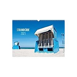 Strandkörbe 2021 (Wandkalender 2021 DIN A3 quer)