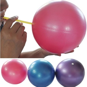 Colorful Gymnastikball Fitnessball 25cm Übung Fitness Gymnastik Smooth Yoga Ball (Rosa)