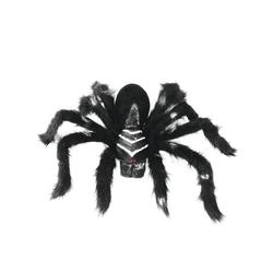 EUROPALMS Tierfigur Spinne TARANTULA, schwarzes Fell - 60cm Halloween Dekoration - schwarzes Fell