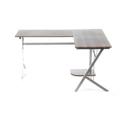 POLLUX | 155x130 - Schreibtisch Walnuss