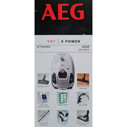 AEG Bodenstaubsauger AEG VX7-2-IW-S X-Power Staubsauger mit Beutel, 650 Watt