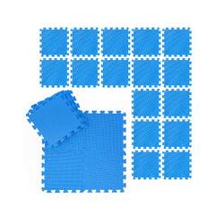 Suelo Goma EVA, Alfombra Puzzle, Esterilla Fitness, Tatami Gimnasio, Set de 24 Piezas, 2,1 m2,