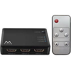 ewent 4K HDMI-Switch Display 3 HDMI-Quellen auf einem Bildschirm