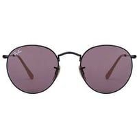 Ray Ban Round Flash RB3447 black / purple photocromic