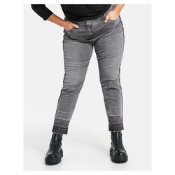 3/4 Betty Jeans mit seitlichem Deko-Tape Samoon Grey Denim