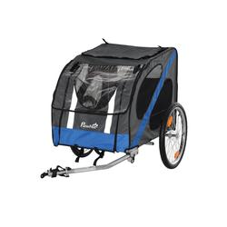 PawHut Fahrradhundeanhänger Fahrradanhänger für Hunde grau