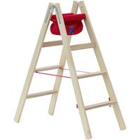 Hymer Holz-Stufenstehleiter 2 x 4  Stufen 7149908