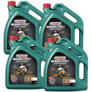 Motorenöl MAGNATEC 0W-30 C2 [4x 5 L] von Castrol (SET15B3E520L) Öl Schmierung Motorenöl