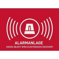 ABUS AU1323 Warnaufkleber Alarmanlage Sprachen Deutsch (B x H) 74mm x 52.5mm