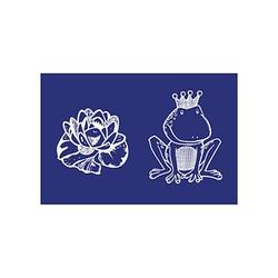 Rayher Siebdruckschablone Frosch mit Seerose blau