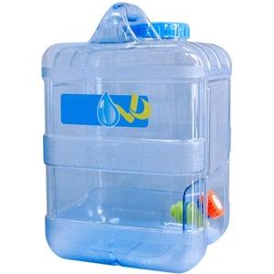 starte 15L Wasserkanister Tragbarer Eimer Auto Wasserbehälter Mit Hahn BPA-frei Kunststoff Verdickt Platz Camping Wassertank Für Outdoor Reise Kampierendes Nach Hause Trinkender Speicher-Eimer (15L)