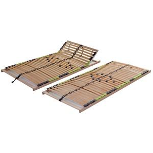 DaMi Lattenrost Basic (Zerlegt) 160 x 200 cm - 7 Zonen Lattenrahmen Aus Buche Mit 5-Fach Härteverstellung - Nicht verstellbar