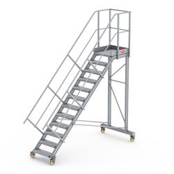 Altrex Podesttreppe fahrbar 45° 12 Stufen