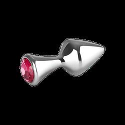 EIS Kleiner Aluminium-Plug mit Kristall, 7 cm