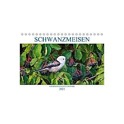 Schwanzmeisen (Tischkalender 2021 DIN A5 quer) - Kalender