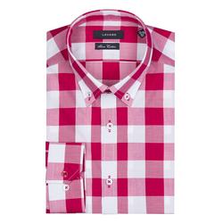 Lavard Rotes Herrenhemd mit Karo-Muster 93045