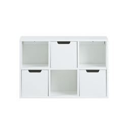 Półka Maudine panel ścienny 58 cm biały