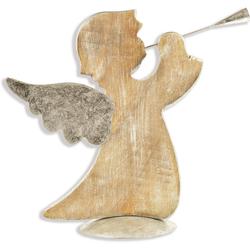 Engelfigur Engel, stehend, mit Trompete