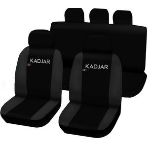 Lupex Shop Kadjar_N.Gs Sitzbezüge Kompatibel mit Kadjar, Schwarz/Dunkelgrau