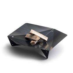 höfats Triple 90 Feuerschale - Corten-Stahl Ø 90cm Schwarz