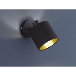 TRIO LED Wandstrahler, dimmbarer Licht-Spot Strahler rund 1-flammig für Wand & Decke Retro Decken-Strahler schwenkbar Ø 11 cm - Rund