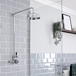 Retro Duschsäule für AP Duscharmatur, Chrom - Elizabeth