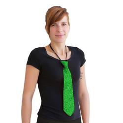 Krawatte Schlips Pailletten Glitzer - grün
