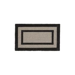 Fußmatte Fußmatte lang, relaxdays, Höhe 1.5 mm grau
