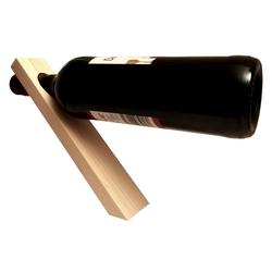 KDR Produktgestaltung Weinflaschenhalter Magischer Weinflaschenhalter aus Holz, (1-St), Schwebend natur