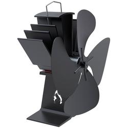 ADURO Ventilator , für Kaminofen schwarz