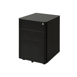 Vinsetto Rollcontainer Aktenschrank mit Schließfach schwarz