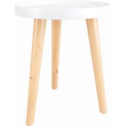 andas Beistelltisch Buffalo, im skandinavischen Design beige Beistelltische Tische
