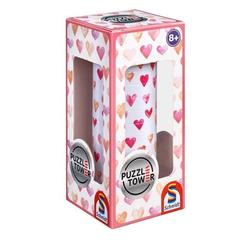 Schmidt 56906 - Puzzle Tower, Herzen, Erwachsenenpuzzle, Spiel